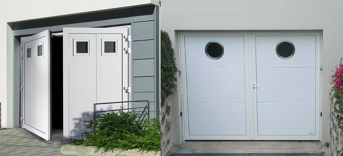 Portes de garage vantaux france ouvertures for Porte de garage 2 battants sur mesure